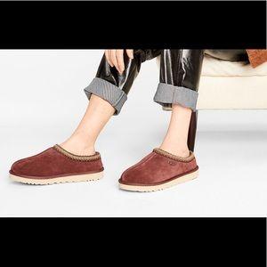 New UGG Tasman Burgundy Shearling Slippers Shoes